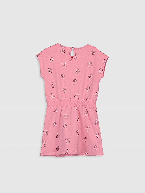 %95 Pamuk %5 Elastan İnce Kısa Kol Diz Üstü Elbise İki İplik Baskılı Kız Çocuk Limon Baskılı Pamuklu Elbise