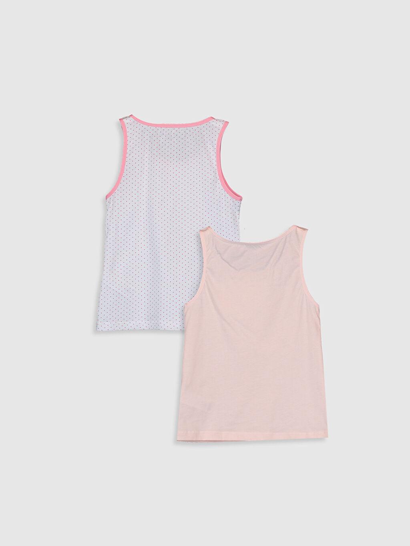 %100 Pamuk Askılı U Yaka Süprem İç Giyim Atlet Standart Kız Çocuk Pamuklu Atlet 2'li