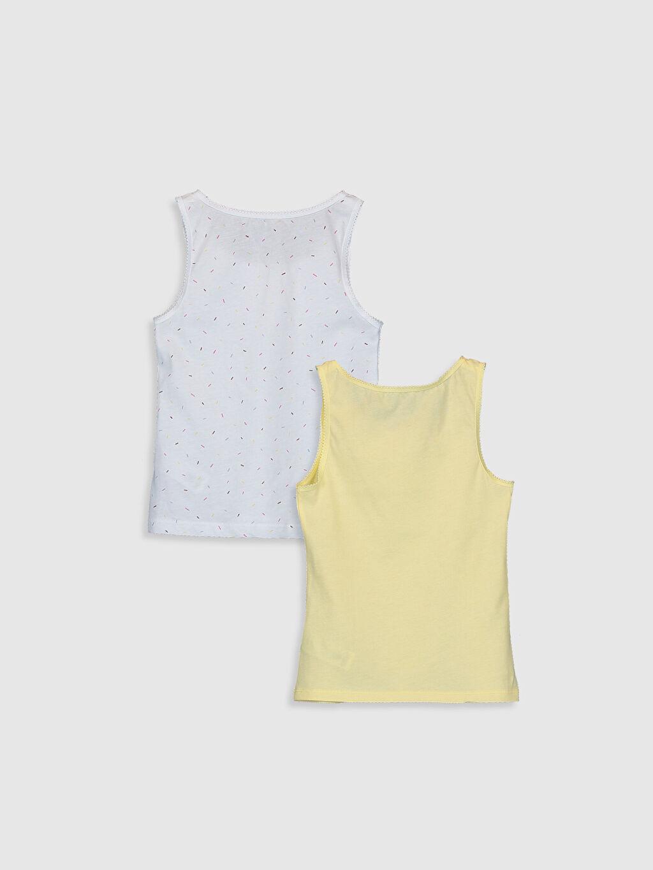 %100 Pamuk Süprem Standart U Yaka Askılı İç Giyim Atlet Kız Çocuk Pamuklu Atlet 2'li