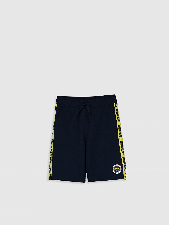 Lacivert Erkek Çocuk Fenerbahçe Amblemli Şort 0SF245Z4 LC Waikiki