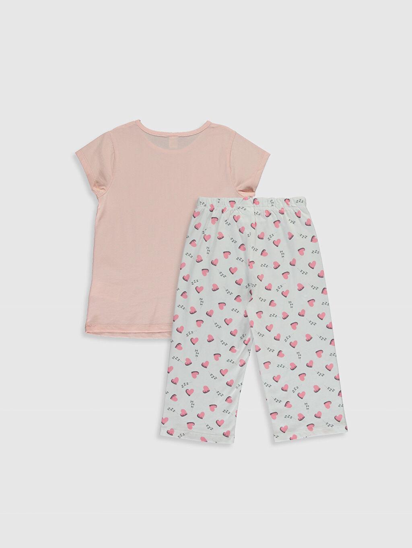 %100 Pamuk Süprem Standart Pijama Takım Kısa Kol Kız Çocuk Baskılı Pamuklu Pijama Takımı