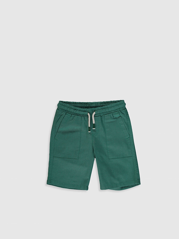 Yeşil Erkek Çocuk Pamuklu Bermuda 0SF411Z4 LC Waikiki
