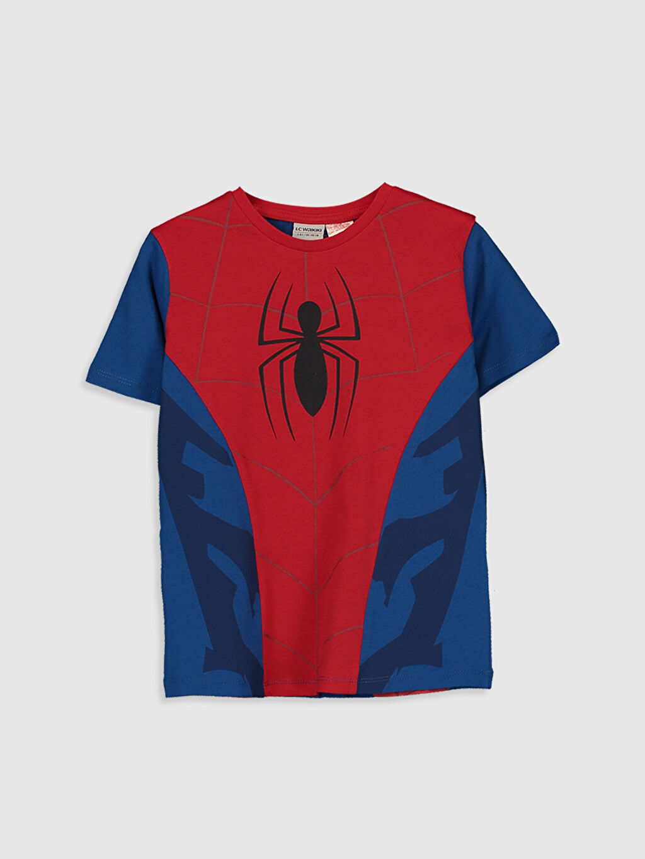 Kırmızı Erkek Çocuk Spiderman Pamuklu Tişört 0SQ577Z4 LC Waikiki