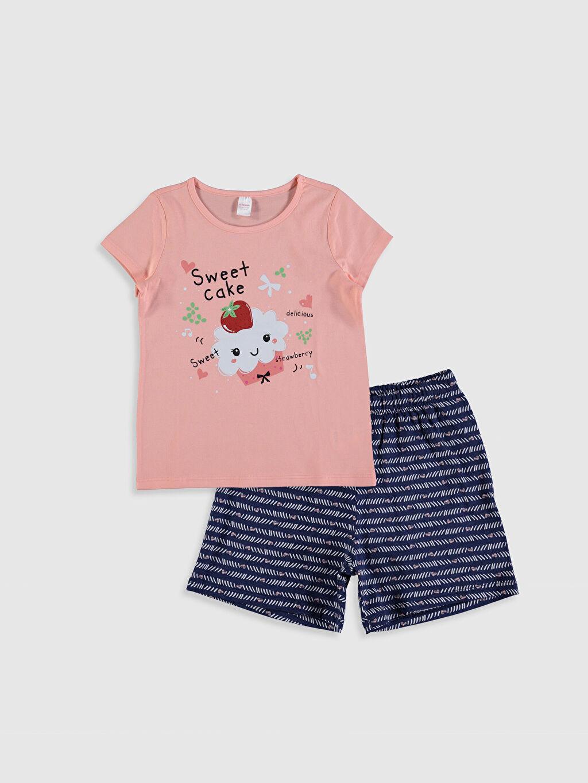 Pembe Kız Çocuk Baskılı Pijama Takımı 0SQ832Z4 LC Waikiki