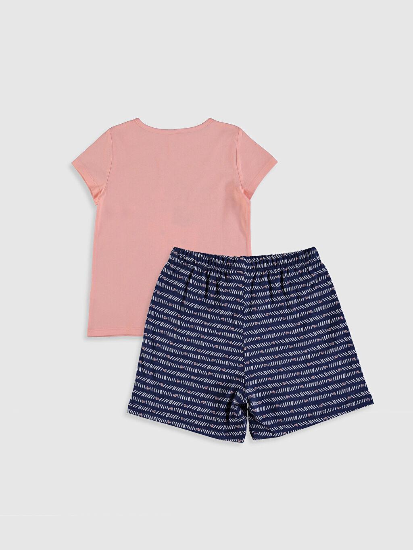 %100 Pamuk Standart Pijama Takım Kısa Kol Süprem Kız Çocuk Baskılı Pijama Takımı