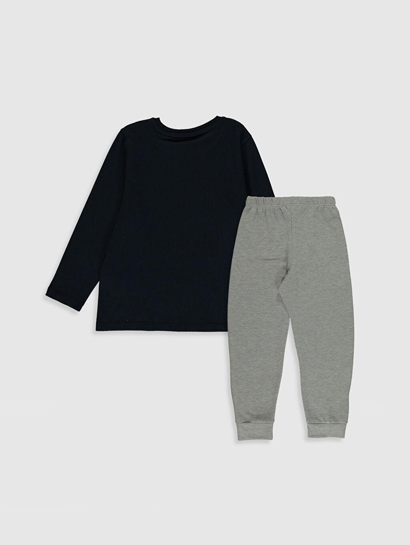 %58 Pamuk %42 Polyester Standart Pijamalar Erkek Çocuk Baskılı Pijama Takımı