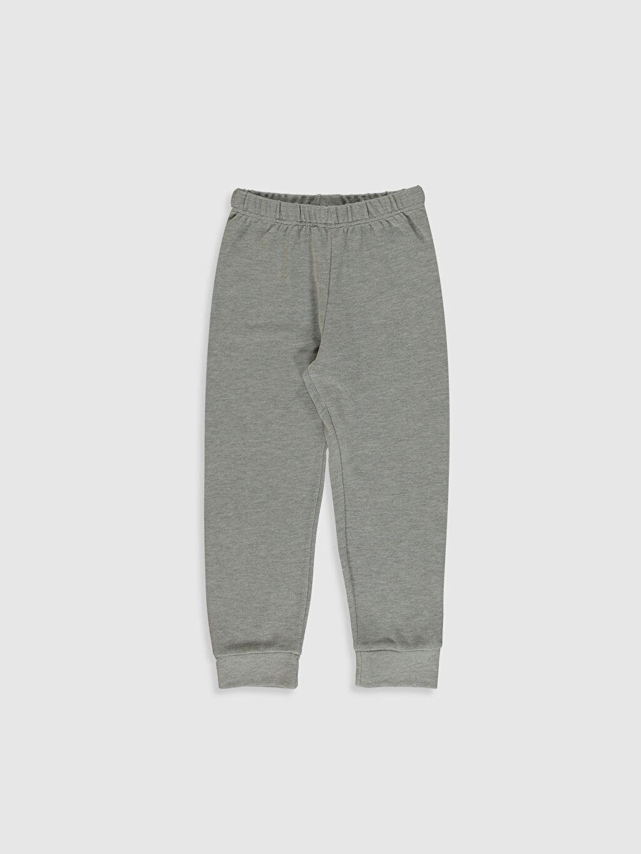 %58 Pamuk %42 Polyester Erkek Çocuk Baskılı Pijama Takımı