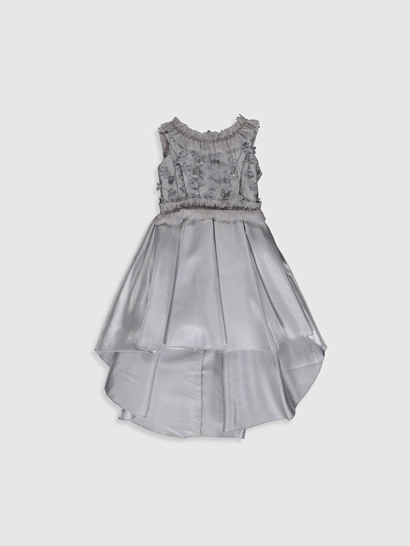 Gri Daisy Girl Kız Çocuk Çiçekli Abiye Elbise 0SS880Z4 LC Waikiki