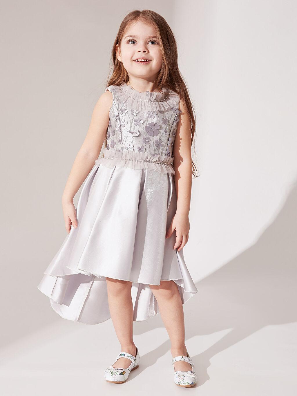 Kız Çocuk Daisy Girl Kız Çocuk Çiçekli Abiye Elbise