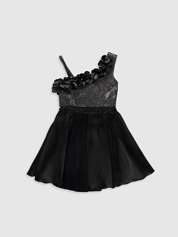Elbise Daisy Girl Kız Çocuk Omuz Detaylı Abiye Elbise