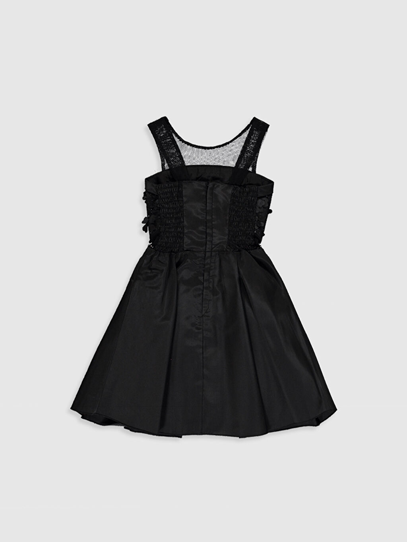 Daisy Girl Kız Çocuk Çiçekli Fiyonk Detaylı Detaylı Abiye Elbise