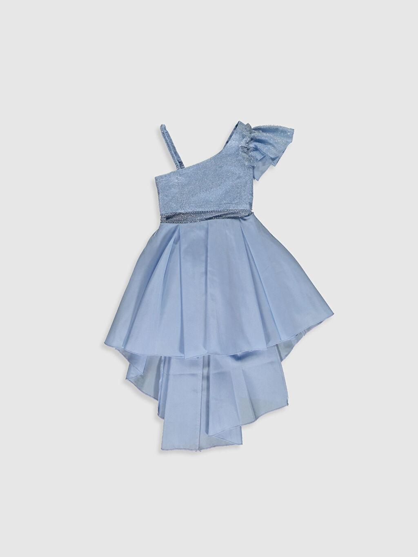 Elbise Daisy Girl Kız Çocuk Omuz Detaylı Kuyruklu Abiye Elbise