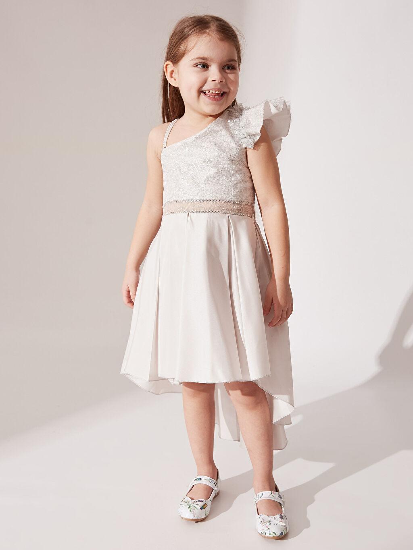 Kız Çocuk Daisy Girl Kız Çocuk Omuz Detaylı Kuyruklu Abiye Elbise