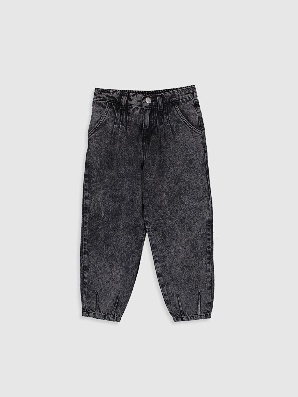 Siyah Kız Çocuk Slouchy Jean Pantolon 0ST486Z4 LC Waikiki