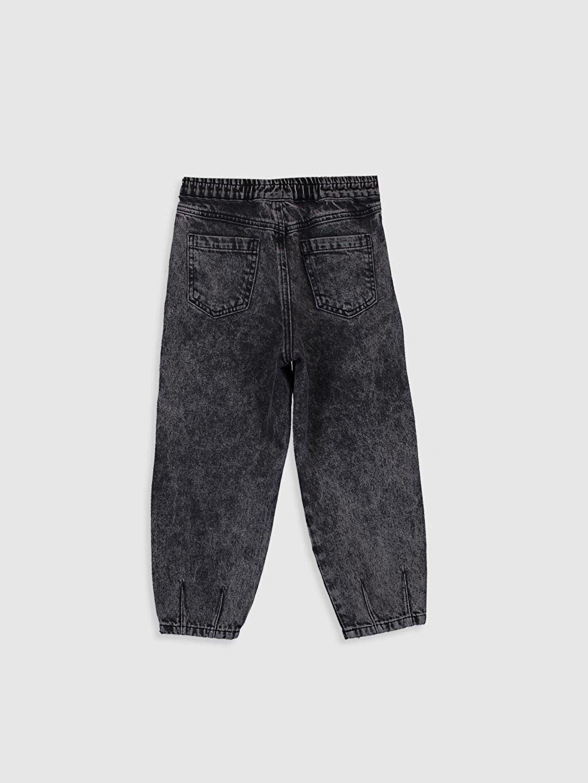 %100 Pamuk Aksesuarsız Standart Normal Bel Astarsız Geniş Paça Düz Jean Kız Çocuk Slouchy Jean Pantolon