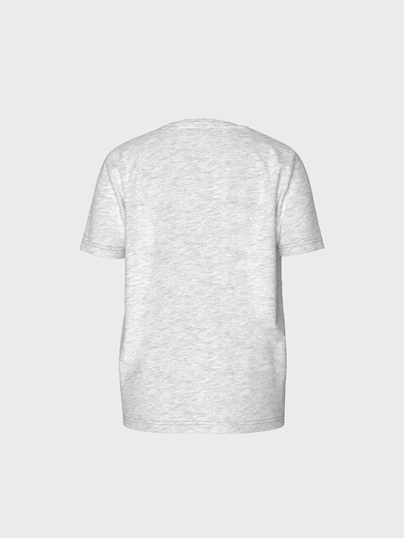 %67 Pamuk %33 Polyester Standart Baskılı Tişört Kısa Kol Süprem Bisiklet Yaka Erkek Çocuk Baskılı Pamuklu Tişört