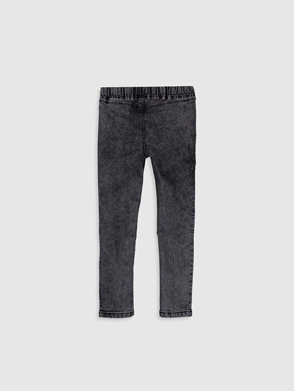 %79 Pamuk %18 Polyester %3 Elastan Aksesuarsız Ekstra Dar Paça Normal Bel Astarsız Dar Düz Jean Kız Çocuk Super Skinny Jean Pantolon