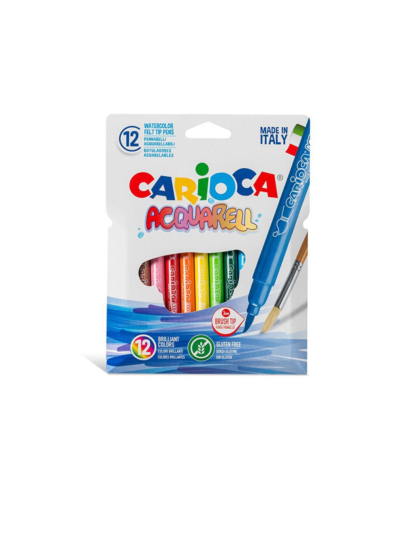 Çok Renkli CARİOCA Acquarell Fırça Uçlu Keçeli Boya Kalemi 12'Li 0SAK65Z4 LC Waikiki