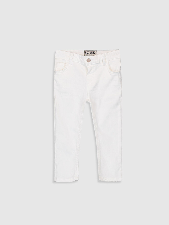 Beyaz Erkek Bebek Skınny Fit Jean Pantolon 0S0055Z1 LC Waikiki