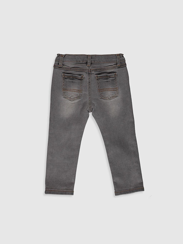 %98 Pamuk %2 Elastan Düz Aksesuarsız Astarsız Beş Cep Skinny Jean %100 Pamuk Erkek Bebek Jean Pantolon