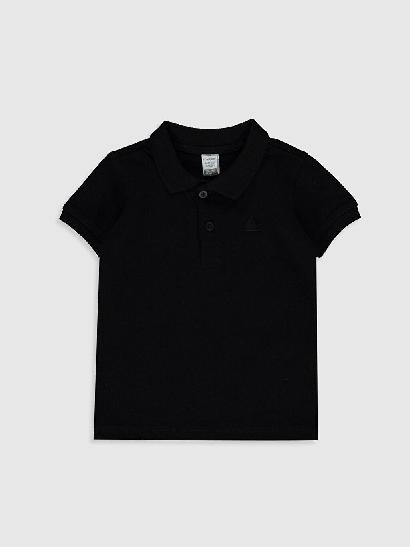 Siyah Erkek Bebek Polo Yaka Basic Tişört 0S0258Z1 LC Waikiki