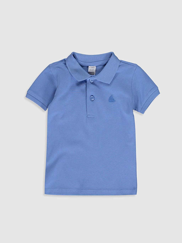 Mavi Erkek Bebek Polo Yaka Basic Tişört 0S0258Z1 LC Waikiki
