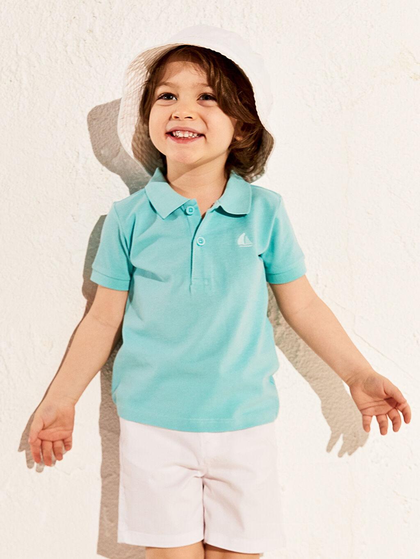 Erkek Bebek Erkek Bebek Polo Yaka Basic Tişört