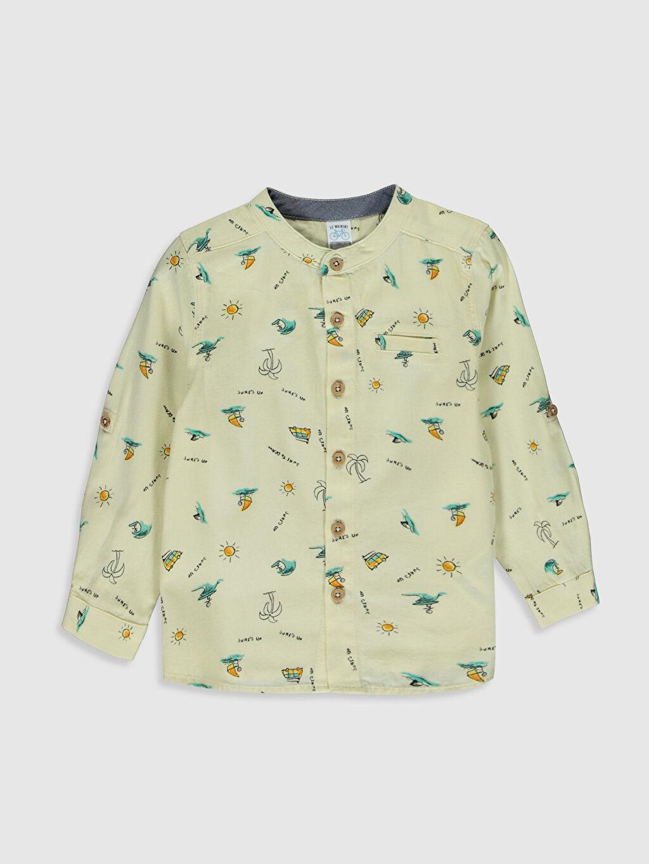 Turuncu Desenli Uzun Kollu Gömlek 0S0428Z1 LC Waikiki