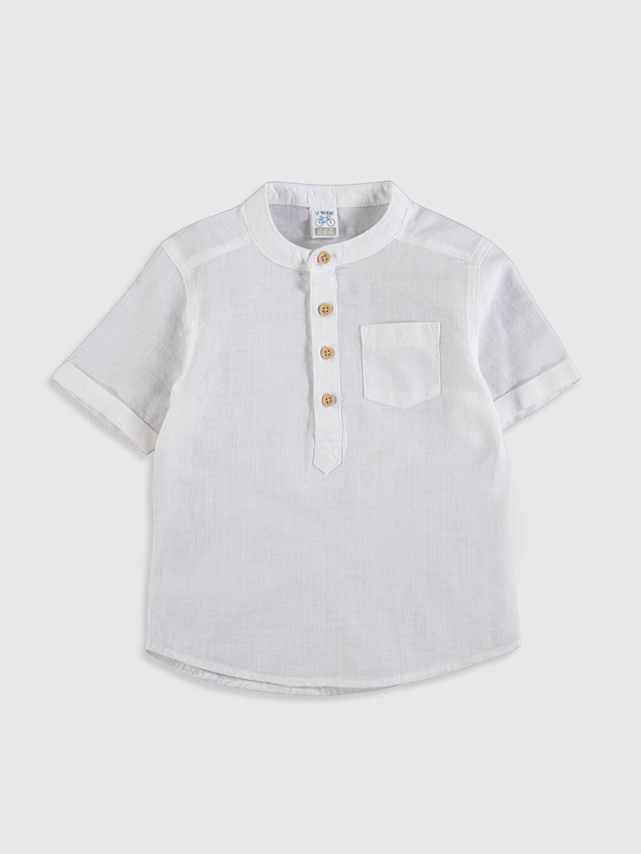 Beyaz Erkek Bebek Hakim Yaka Gömlek 0S0435Z1 LC Waikiki