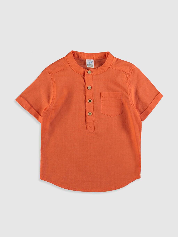 Turuncu Erkek Bebek Poplin Gömlek 0S0435Z1 LC Waikiki