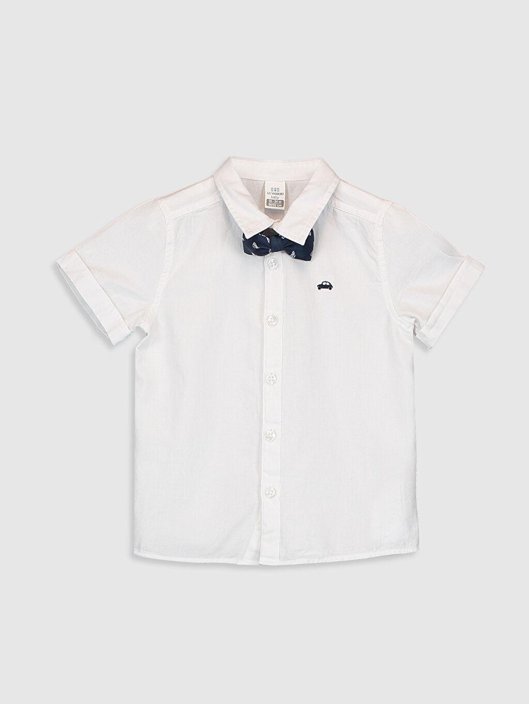 Beyaz Erkek Bebek Poplin Gömlek ve Papyon 0S0439Z1 LC Waikiki