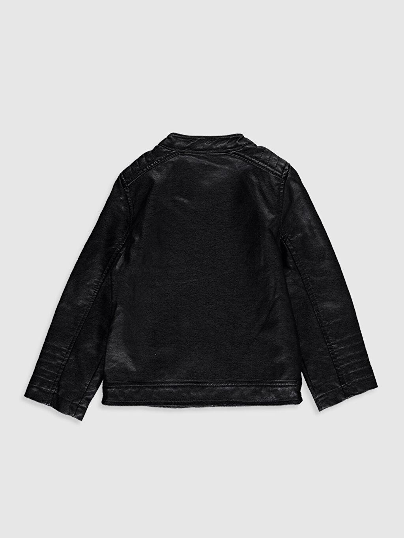 %100 Viskoz %100 Polyester Ceket Kız Bebek Deri Görünümlü Ceket