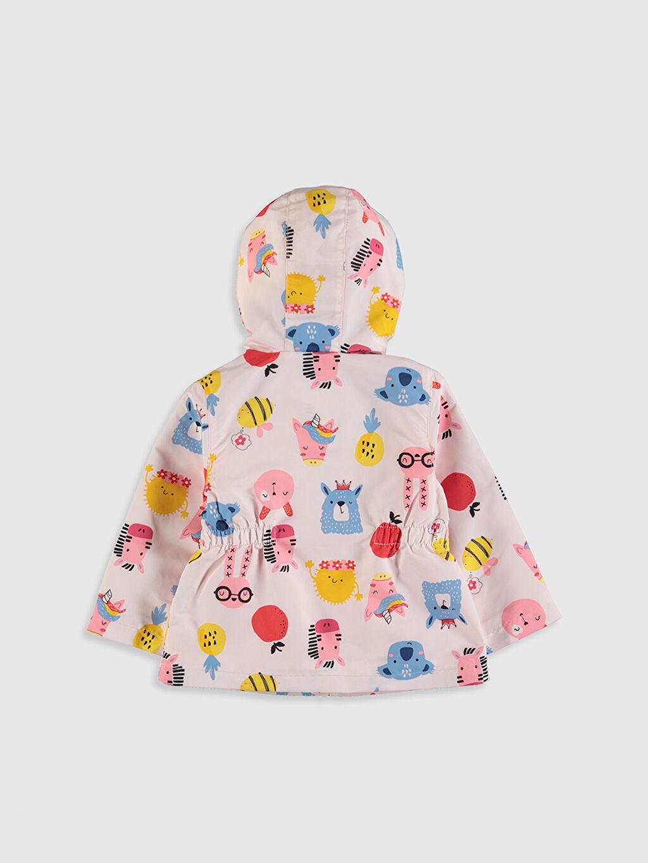 %100 Polyester %100 Pamuk Orta Mont Kız Bebek Slogan Baskılı Kapüşonlu Mont