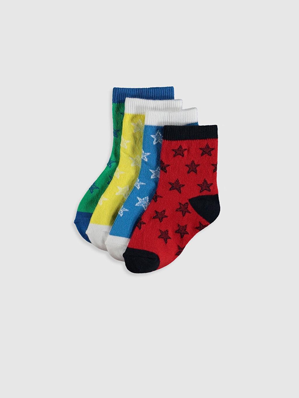 Çok Renkli Erkek Bebek Soket Çorap 4'lü 0S0996Z1 LC Waikiki