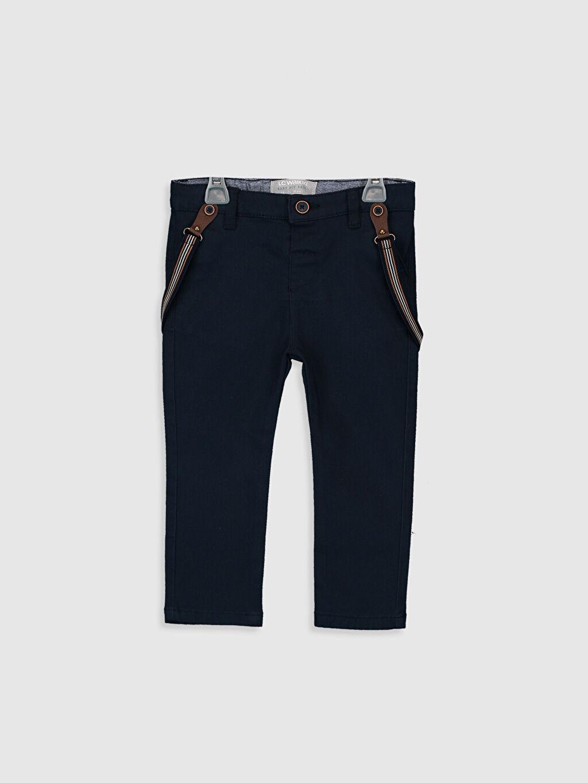 Lacivert Erkek Bebek Gabardin Pantolon ve Pantolon Askısı 0S1077Z1 LC Waikiki