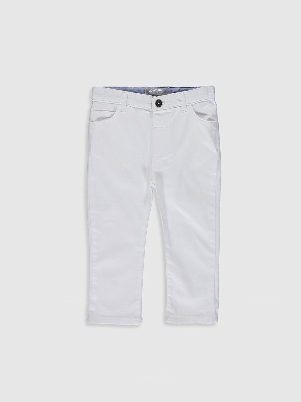 Beyaz Erkek Bebek Skınny Fit Jean Pantolon 0S1082Z1 LC Waikiki
