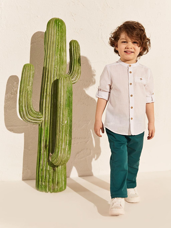 Yeşil Erkek Bebek Skınny Fit Jean Pantolon 0S1082Z1 LC Waikiki