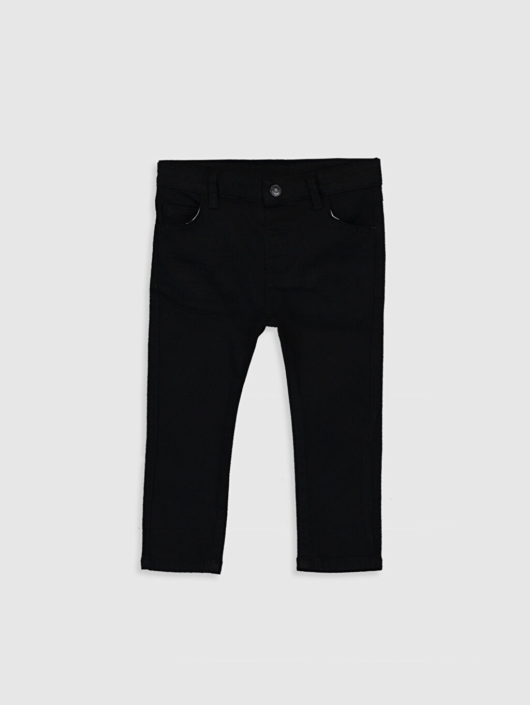 Siyah Erkek Bebek Slim Fit Gabardin Pantolon 0S1118Z1 LC Waikiki