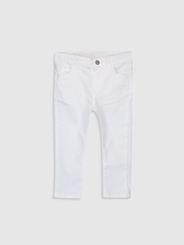 Beyaz Erkek Bebek Slim Fit Gabardin Pantolon 0S1118Z1 LC Waikiki