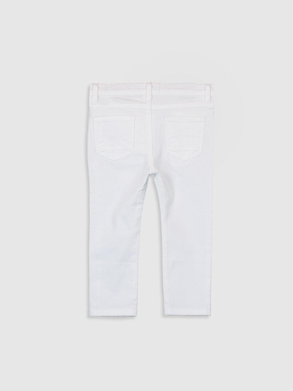%98 Pamuk %2 Elastan Astarsız Dar Beş Cep Pantolon Gabardin Aksesuarsız %100 Pamuk Erkek Bebek Slim Fit Gabardin Pantolon