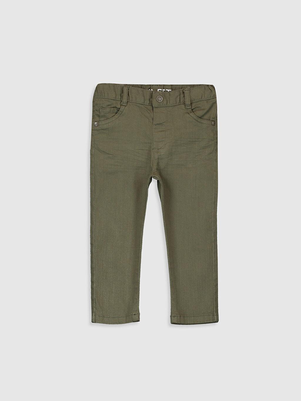 Haki Erkek Bebek Slim Fit Gabardin Pantolon 0S1118Z1 LC Waikiki