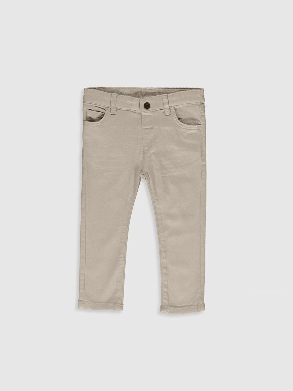Bej Erkek Bebek Slim Fit Gabardin Pantolon 0S1118Z1 LC Waikiki