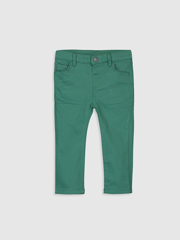 Yeşil Erkek Bebek Slim Fit Gabardin Pantolon 0S1118Z1 LC Waikiki