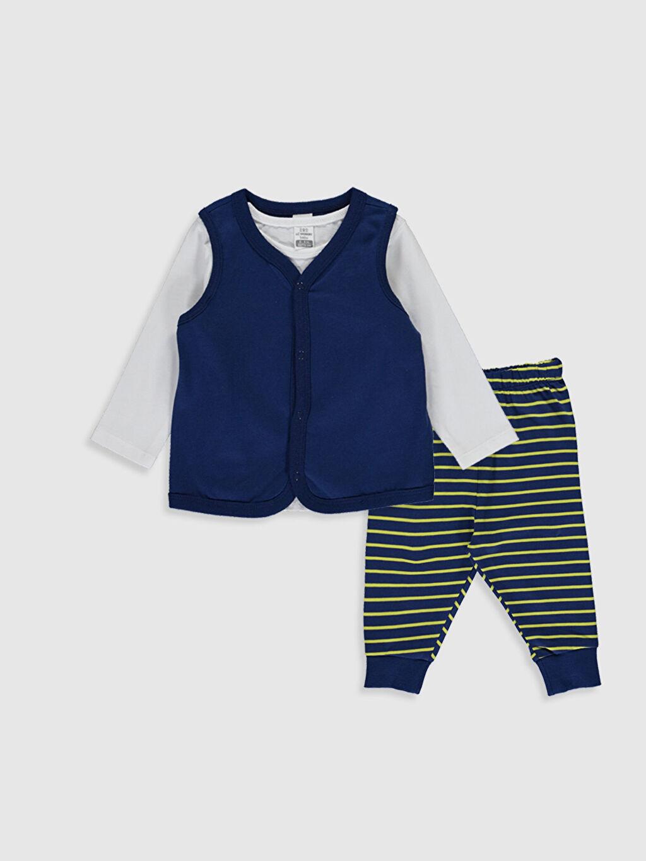 Beyaz Erkek Bebek Pijama Takımı 3'lü 0S1229Z1 LC Waikiki