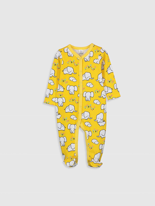Sarı Kız Bebek Desenli Tulum 0S1659Z1 LC Waikiki