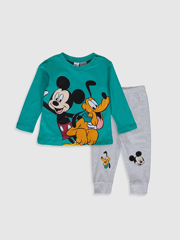 Yeşil Erkek Bebek Disney Baskılı Pijama Takımı 0S1854Z1 LC Waikiki