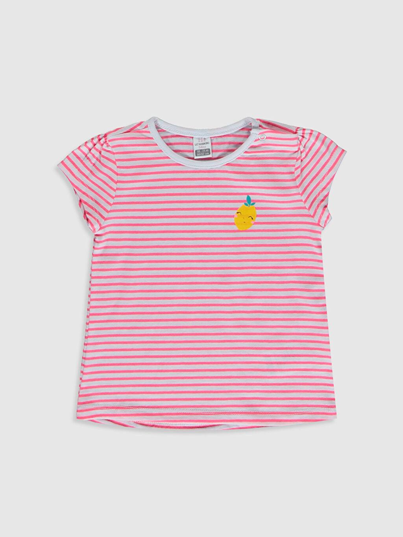Pembe Kız Bebek Pamuklu Tişört 0S1976Z1 LC Waikiki