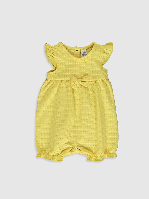 Sarı Kız Bebek Pamuklu Tulum 0S2242Z1 LC Waikiki