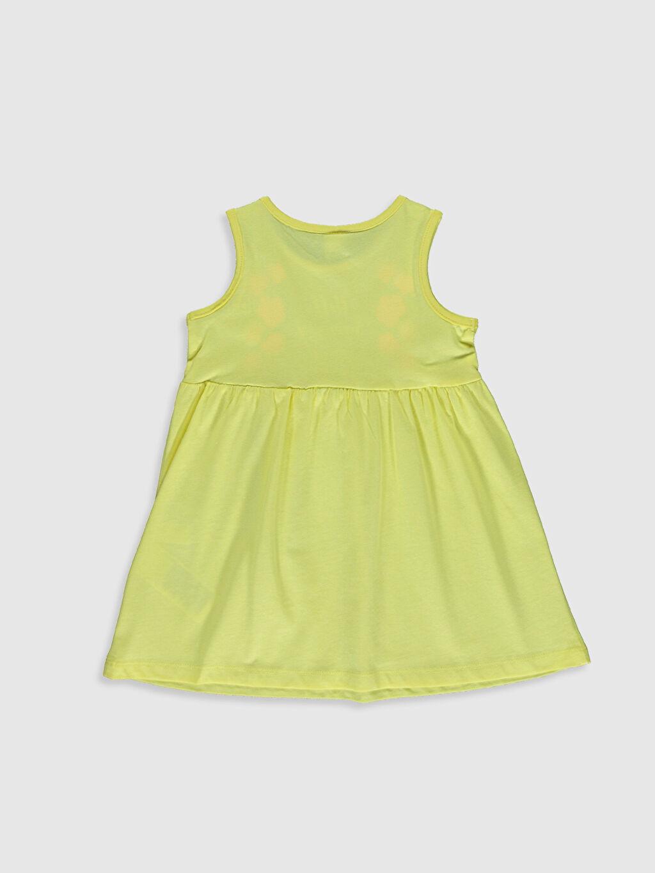 %100 Pamuk Desenli Kız Bebek Baskılı Elbise