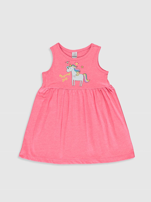 Pembe Kız Bebek Baskılı Elbise 0S2469Z1 LC Waikiki